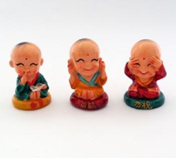 03 Monges da Sabedoria - 5cm