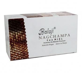 NAG CHAMPA C/ MEL Balaji - Incenso Indiano Massala