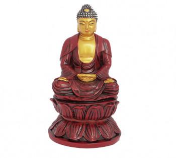 Budha Sakyamuni Vermelho - 13 cm