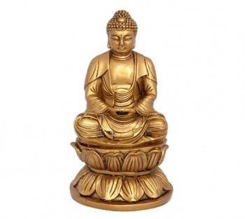 Budha Sakyamuni Dourado - 13 cm