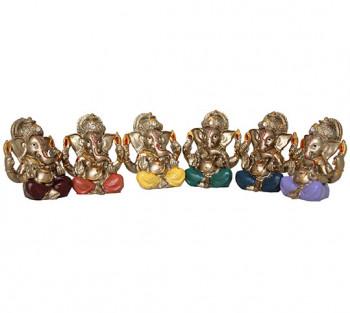 Ganesha Mini Bronzeado JG com 6 - 5cm