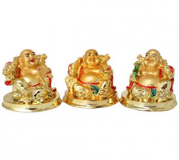 Kit 3 Budha Alegria - 6cm