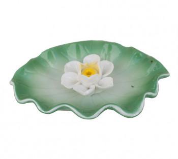 Incensario F de Lotus Branca - 11cm