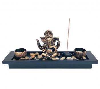 Incensário de Ganesha c/ Porta Vela - 35cm