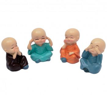 4 Monginhos da Sabedoria - 5cm