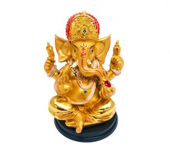 Ganesha Dourado - 10cm