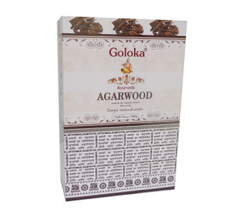 GOLOKA AYURVEDIC AGARWOOD - Incenso Indiano de Massala