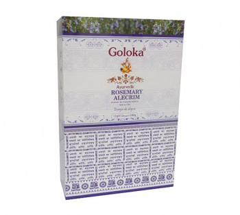 GOLOKA AYURVEDIC ALECRIM - Incenso Indiano de Massala