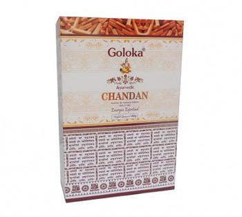 GOLOKA AYURVEDIC CHANDAN - Incenso Indiano de Massala