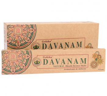 DAVANAM - Incenso Natural Indiano de Massala (valor unitario)