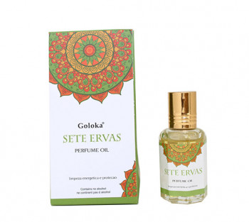 Sete Ervas - Óleo Perfumado Indiano (10ml)