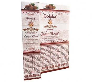 GOLOKA AYURVEDIC CEDRO - Incenso Indiano de Massala (valor unitário)