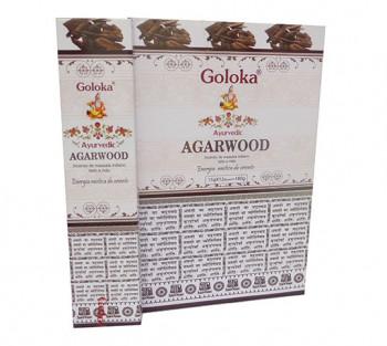 GOLOKA AYURVEDIC AGARWOOD - Incenso Indiano de Massala (valor unitário)