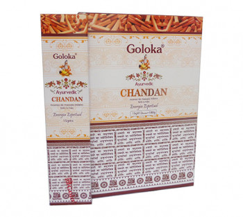 GOLOKA AYURVEDIC CHANDAN - Incenso Indiano de Massala (valor unitário)