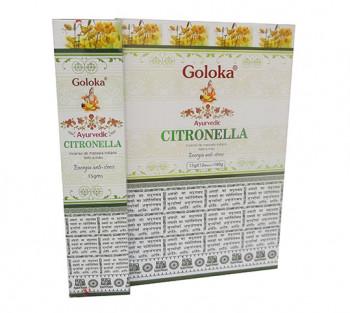 GOLOKA AYURVEDIC CITRONELA - Incenso Indiano de Massala (valor unitário)