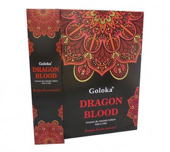 GOLOKA DRAGON BLOOD - Incenso Indiano de Massala (valor unitário)