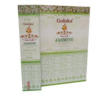 GOLOKA AYURVEDIC JASMINE - Incenso Indiano de Massala (valor unitário)