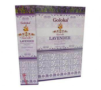 GOLOKA AYURVEDIC LAVANDA - Incenso Indiano de Massala (valor unitário)