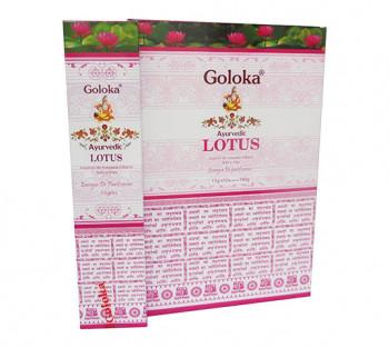 GOLOKA AYURVEDIC LOTUS - Incenso Indiano de Massala (valor unitário)