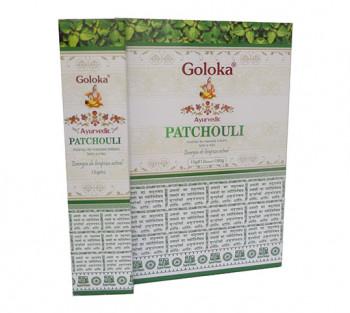 GOLOKA AYURVEDIC PATCHOULI - Incenso Indiano de Massala (valor unitário)