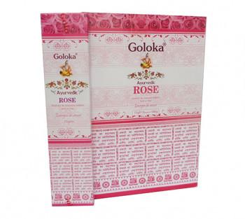 GOLOKA AYURVEDIC ROSE - Incenso Indiano de Massala (valor unitário)