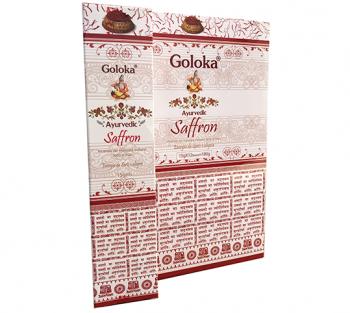 GOLOKA AYURVEDIC AÇAFRÃO - Incenso Indiano de Massala (valor unitário)
