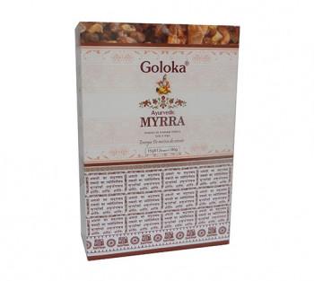 GOLOKA AYURVEDIC MIRRA - Incenso Indiano de Massala