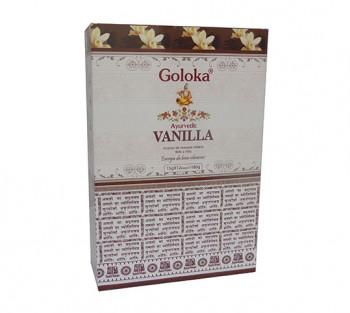 GOLOKA AYURVEDIC BAUNILHA - Incenso Indiano de Massala