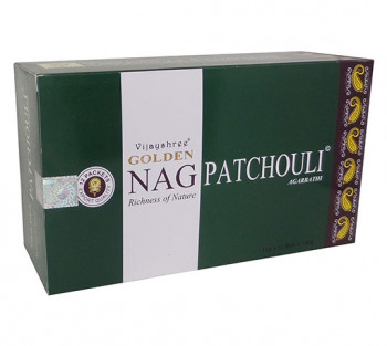 GOLDEN NAG PATCHOULI - Incenso Indiano massala