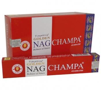 GOLDEN NAG CHAMPA - Incenso Indiano massala (valor unitário)