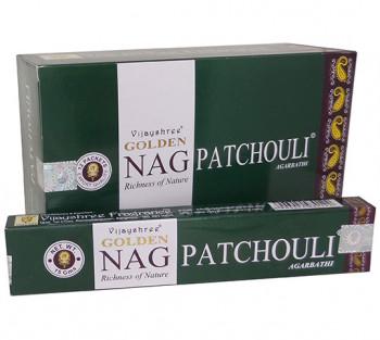 GOLDEN NAG PATCHOULI - Incenso Indiano massala (valor unitário)