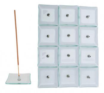 Incensario de vidro Transparete (caixa com 12)