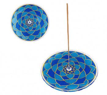 Incensario de vidro prato Mandala