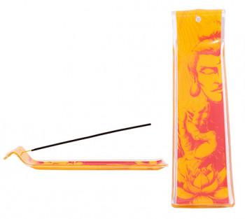 Incensário de vidro canaleta Budha Am