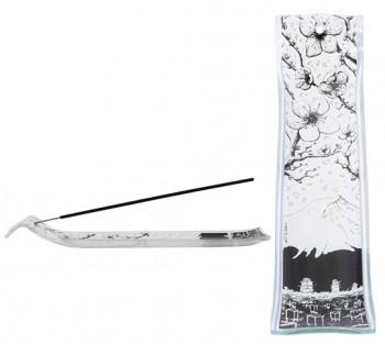 Incensário de vidro canaleta Sakura