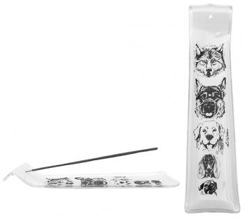 Incensário de vidro canaleta Cães