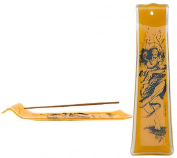 Incensário de vidro canaleta Shiva