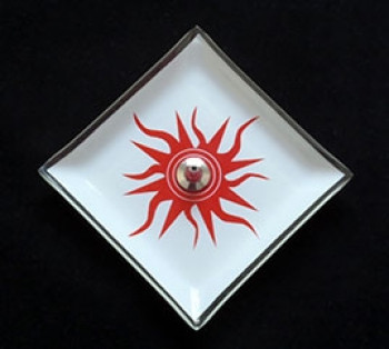 Incensário de vidro Sol 12cm
