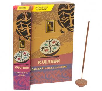 Kultrún Sálvia + Lavanda - Incenso Indiano Premium (unitário)