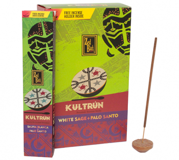 Kultrún Sálvia + Palo Santo - Incenso Indiano Premium (unitário)