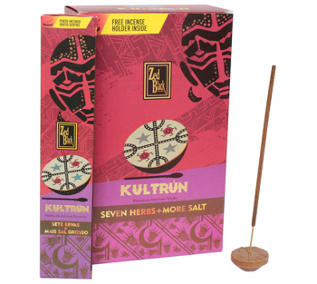 Kultrún 7 Ervas + Sal - Incenso Indiano Premium (unitário)
