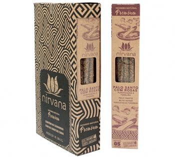 Nirvana Incenso Natural Premium - Palo Santo c/ Rosas