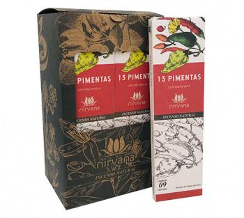 Nirvana Incenso Natural - 13 Pimentas