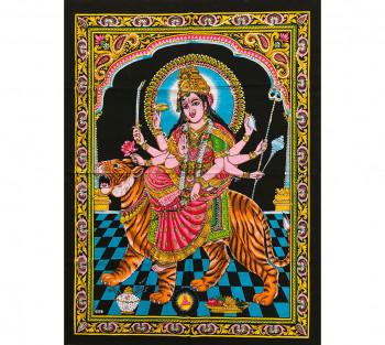 Painel Decorativo Indiano Durga - 1,15m x 0,75m