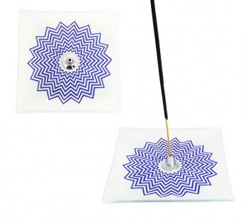 Incensário de vidro Mandala 12cm