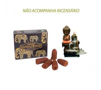 SANDALWOOD Cone Cascata -  Incenso Indiano (valor unitário)