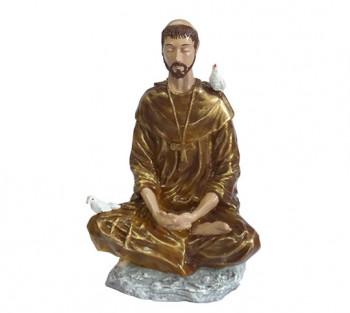 São Francisco Meditando (nacional) - 19cm
