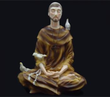 São Francisco Meditando - 19cm (importado)