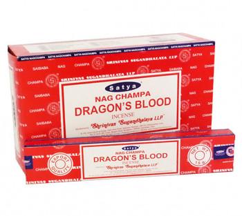 SATYA DRAGON'S BLOOD - Incenso Indiano de Massala (VALOR UNITÁRIO)
