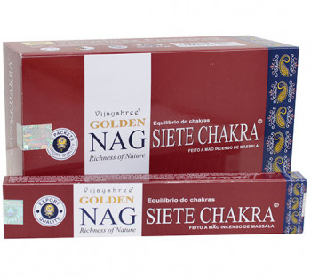 GOLDEN NAG SETE CHAKRAS - Incenso Indiano massala (valor unitário)